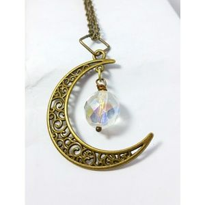 Crescent crystal moon